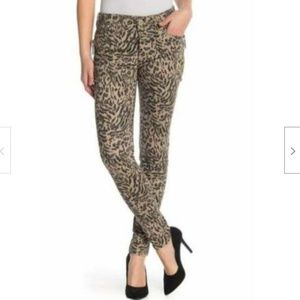 Democracy Brindle Olive Animal Print Jean Ab tech